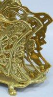 画像3: イタリア製 輸入雑貨 真鍮 ブラス ナプキンホルダー レタースタンド ナプキン立て テーブル アールヌーボー アンティーク風 スティーラ C3-338 リビングスタジオ 直輸入 (3)