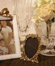 画像3: イタリア製 輸入雑貨 真鍮 ブラス フォトフレーム 写真立て ハート窓 アールヌーボー アンティーク風 C3-45 リビングスタジオ 直輸入 (3)
