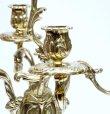 画像3: イタリア製 輸入雑貨 真鍮 ブラス キャンドルスタンド 5灯 燭台 置物 オブジェ クラシカル クリスマス スティーラ 姫系 sti-1097-5 送料無料 直輸入 リビングスタジオ (3)