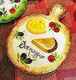 画像1: イタリア製 輸入雑貨 壁飾り 絵皿 カッティングボード チーズ バッサーノ ハンドメイド BRE-1777CH 直輸入 リビングスタジオ (1)