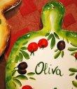 画像3: イタリア製 輸入雑貨 壁飾り 絵皿 カッティングボード オリーブ トマト ブルスケッタ バッサーノ ハンドメイド BRE-1777OV 直輸入 リビングスタジオ (3)