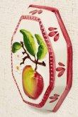 画像2: イタリア製 輸入雑貨 壁飾り リンゴ アップル フルーツ 陶器 壁掛け 八角形 風水 ハンドメイド バッサーノ リビングスタジオ 直輸入 BRE-195L-AP (2)