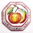 画像1: イタリア製 輸入雑貨 壁飾り リンゴ アップル フルーツ 陶器 壁掛け 八角形 風水 ハンドメイド バッサーノ リビングスタジオ 直輸入 BRE-195S-AP (1)