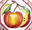 画像3: イタリア製 輸入雑貨 壁飾り リンゴ アップル フルーツ 陶器 壁掛け 八角形 風水 ハンドメイド バッサーノ リビングスタジオ 直輸入 BRE-195S-AP (3)