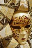 画像2: イタリア製 輸入雑貨 直輸入 ベネチアンマスク 壁飾り 月 白 ホワイト ゴールド マスカレード カーニバル リビングスタジオ レガルモーダ P6-70-1 送料無料 (2)
