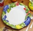画像3: イタリア製 輸入雑貨 パスタプレート サラダボウル フルーツ ブドウ 盛皿 大鉢 29cm メインディッシュ BRE-1291-28FR 直輸入 リビングスタジオ (3)