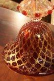 画像7: イタリア製 輸入雑貨 ベネチアンガラス コンポート H35.5cm 赤 金箔 リビングスタジオ 直輸入 ヴェネチアンガラス Murano ムラノガラス マエストロ 送料無料 (7)