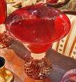 画像5: イタリア製 輸入雑貨 ベネチアンガラス コンポート H35.5cm 赤 金箔 リビングスタジオ 直輸入 ヴェネチアンガラス Murano ムラノガラス マエストロ 送料無料 (5)