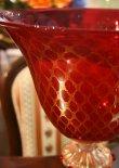 画像6: イタリア製 輸入雑貨 ベネチアンガラス コンポート H35.5cm 赤 金箔 リビングスタジオ 直輸入 ヴェネチアンガラス Murano ムラノガラス マエストロ 送料無料 (6)