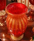 画像5: イタリア製 輸入雑貨 ベネチアンガラス 花瓶 フラワーベース H32cm 赤 金箔 リビングスタジオ 直輸入 ヴェネチアングラス ムラノガラス ムラーノ Murano 送料無料 (5)