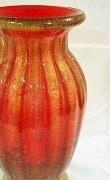 画像2: イタリア製 輸入雑貨 ベネチアンガラス 花瓶 フラワーベース H32cm 赤 金箔 リビングスタジオ 直輸入 ヴェネチアングラス ムラノガラス ムラーノ Murano 送料無料 (2)