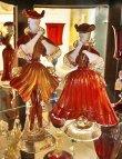 画像9: イタリア製 輸入雑貨 ベネチアングラス ペア人形 置物 赤 ゴールド H25cm/26cm リビングスタジオ 直輸入 ヴェネチアン Murano ムラノガラス 一点物 送料無料 (9)
