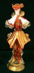 画像6: イタリア製 輸入雑貨 ベネチアングラス ペア人形 置物 赤 ゴールド H25cm/26cm リビングスタジオ 直輸入 ヴェネチアン Murano ムラノガラス 一点物 送料無料 (6)