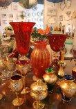 画像7: イタリア製 輸入雑貨 ベネチアンガラス 花瓶 フラワーベース H32cm 赤 金箔 リビングスタジオ 直輸入 ヴェネチアングラス ムラノガラス ムラーノ Murano 送料無料 (7)