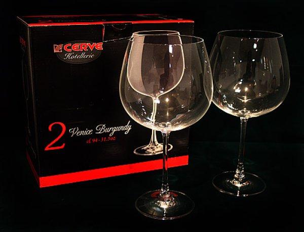 画像1: イタリア製 輸入雑貨 直輸入 ワイングラス グラスセット ペア グラス ワイン ボルドー ブルゴーニュ Cerve チェルヴェ 94cl 4681 リビングスタジオ (1)