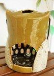 画像3: 輸入雑貨 キャンドルホルダー フクロウ グリーン 陶器 カンテラ オブジェ 置物 香炉 アロマ ガーデニング ハンギング H16cm 29241 (3)