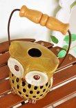 画像4: 輸入雑貨 キャンドルホルダー フクロウ グリーン 陶器 カンテラ オブジェ 置物 香炉 アロマ ガーデニング ハンギング H16cm 29241 (4)