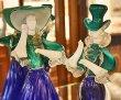 画像2: イタリア製 輸入雑貨 ベネチアングラス ペア人形 ダンサー グリーン ブルー ムラノガラス ヴェネチアン リビングスタジオ 直輸入 送料無料 (2)