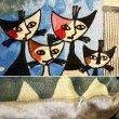 画像3: 輸入雑貨 クッション 刺繍 ロジーナキャット ビバファミリー RC-43 イタリア ギリシャ ロジーナヴァハトマイスター Rosina Wachtmeister 猫 トルコ ウィーン (3)