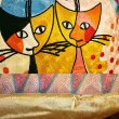 画像3: 輸入雑貨 クッション 刺繍 ロジーナキャット ロマンス2 RC-58 ロジーナヴァハトマイスター Rosina Wachtmeister 猫 トルコ ウィーン (3)
