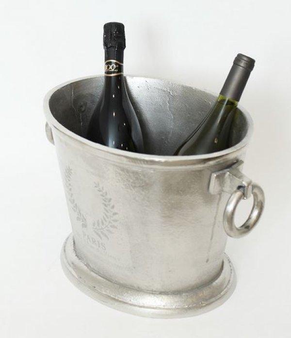 画像1: 輸入雑貨 ワインクーラー 白ワイン スパークリング シャンパン スプマンテ カバ シャビーシック アンティーク風 カフェ バー レストラン PM-16944 送料無料 (1)