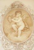 画像4: イタリア製 輸入雑貨 額絵 エンジェル アートフレーム 月桂冠の天使 バルトロッツィ エンゼル シルバー ロココ 姫系 FAL-6488-37 送料無料 (4)