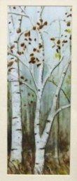 画像3: イタリア製 輸入雑貨 額絵 白樺 森 シルバー アートフレーム ナチュラル ガーデン シャビーシック アンティーク風 85583 直輸入 リビングスタジオ (3)
