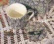 画像3: 輸入雑貨 マグカップ ギフトセット コースター ティースプーン ポーセリン クリエイティブトップス Creative Tops サンフラワー Sunflower ブルー C000494 (3)