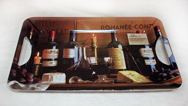 画像1: 輸入雑貨 ロマネコンティの柄の実用的ラージトレー ワイン Creative Tops Vintage Wine イギリス 英国 【メーカー直送:代引・同梱・送料無料対象外】 (1)
