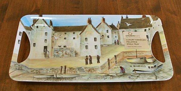 画像1: 輸入雑貨 静かな風景柄のサンドイッチトレー クリエイティブトップス Creative Tops Cornish Harbour イギリス 英国【メーカー直送:代引・同梱・送料無料対象外】 (1)