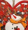 画像2: クリスマス 輸入雑貨 スノーマン 壁飾り ハート 木製 木彫り 透かし オーナメント 壁掛け 赤 ツリー リース ナチュラル LHK-0282 (2)