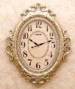 画像1: 輸入雑貨 ビクトリアンパレス ウォールクロック ネグレスコ 時計 壁掛け シルバー アンティーク風 ロココ 姫系 クラシック LS-8209L 送料無料 (1)