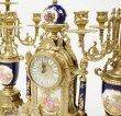 画像4: イタリア製 輸入雑貨 時計 キャンドルスタンド セット 真鍮 磁器 バロック ロココ ブルー 貴族柄 Olympus 425TBG 直輸入 リビングスタジオ (4)