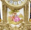 画像5: イタリア製 輸入雑貨 時計 キャンドルスタンド セット 真鍮 磁器 バロック ロココ ブルー 貴族柄 Olympus 425TBG 直輸入 リビングスタジオ (5)