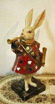 画像1: 輸入雑貨 不思議の国のアリスの トランプ ウサギ のような置物 フレンチ シャビーシック Covent Garden コベントガーデン BK-03 (1)