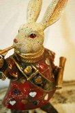 画像2: 輸入雑貨 不思議の国のアリスの トランプ ウサギ のような置物 フレンチ シャビーシック Covent Garden コベントガーデン BK-03 (2)