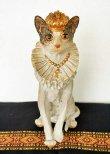 画像1: 輸入雑貨 クラウン キャット Covent Garden コベントガーデン BK-25 猫 ネコ オブジェ 置物 フレンチ シャビーシック アンティーク風 (1)