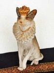 画像2: 輸入雑貨 クラウン キャット Covent Garden コベントガーデン BK-25 猫 ネコ オブジェ 置物 フレンチ シャビーシック アンティーク風 (2)