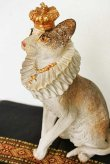 画像3: 輸入雑貨 クラウン キャット Covent Garden コベントガーデン BK-25 猫 ネコ オブジェ 置物 フレンチ シャビーシック アンティーク風 (3)