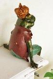 画像4: 輸入雑貨 フロッグサボタージュ Covent Garden コベントガーデン BK-34  蛙 カエル クラウン 置物 オブジェ フレンチ シャビーシック アンティーク風 フェアリーテイル (4)