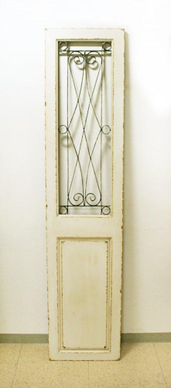 画像1: 輸入家具 ホワイトグリル ドア Covent Garden コベントガーデン BM-97 壁掛け ドアパネル アイアン 木製 シャビーシック アンティーク風 送料無料 (1)