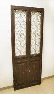 画像1: 輸入家具 アイアンデコ ツインドア Covent Garden コベントガーデン IX-60 壁掛け ドアパネル アイアン 木製 シャビーシック アンティーク風 (1)