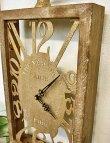 画像4: 輸入雑貨 レスター ウッデンクロック Covent Garden コベントガーデン KI-80 置時計 シャビーシック モダンクラシック ナチュラル (4)