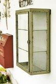 画像2: 輸入雑貨 バリヤード ショーケース コベントガーデン Covent Garden KI-97 飾り棚 壁掛け アイアン ガラス シャビーシック アンティーク風 送料無料 (2)