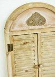 画像5: 輸入雑貨 ゴルド ルーバーミラー ブラウン アーチ Covent Garden コベントガー デン KK-24 鏡 壁掛 木製 アンティーク風 シャビーシック (5)
