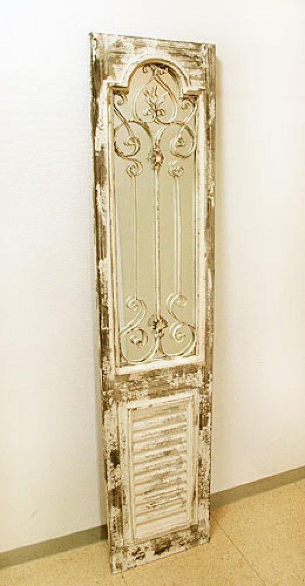 画像1: 輸入家具 カナロア ミラードア Covent Garden コベントガーデン LW-59 壁掛け ドアパネル シャビーシック ブロカンテ アンティーク風 (1)