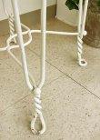 画像7: 輸入家具 パティオ アイアン チェア 椅子 花台 シャビーシック アンティーク風 ホワイト ブロカンテ コベントガーデン CoventGarden NO-30 (7)