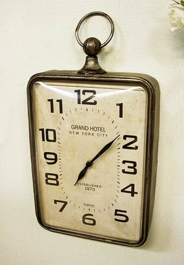 画像1: 輸入雑貨 アンダーパス ハングクロック Covent Garden コベントガーデン NY-05 壁掛け 掛時計 モダン クラシック インダストリアル (1)