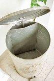画像4: 輸入雑貨 ジャルダン トラッシュボックス ダストボックス ごみ箱 アイアン ブリキ シャビーシック アンティーク風 Covent Garden コベントガーデン OE-32 (4)