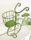 画像5: 輸入雑貨 エルブ トライサイクルポットスタンド アイアン 三輪車 プランター シャビーシック グリーン ガーデン Covent Garden コベントガーデン US-08 (5)